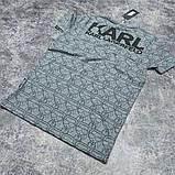 Мужская футболка Karl CK1610 серая, фото 3