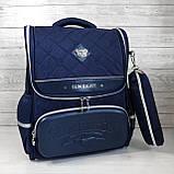 Вместительный анатомический школьный рюкзак с пеналом для мальчика 7, 8, 9, 10 лет | каркасный ранец портфель, фото 2