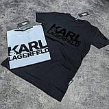 Мужская футболка Karl CK1620 черная, фото 3