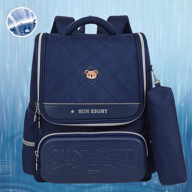 Вместительный анатомический школьный рюкзак с пеналом для мальчика 7, 8, 9, 10 лет | каркасный ранец портфель