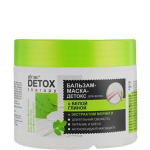 Витэкс - Detox Therapy Бальзам-маска для волос с Белой глиной Питание и блеск 300ml