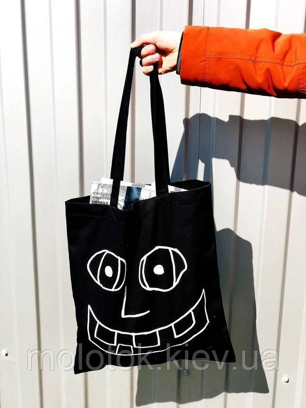 Еко сумка-шоппер для тих у кого завжди гарний настрій .