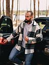 Тёплая Рубашка Оверсайз Светло-серая, фото 2