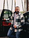 Тёплая Рубашка Оверсайз Светло-серая, фото 3