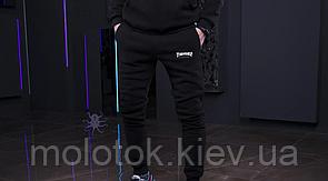 Штаны Thrasher черные на флисе, размер S