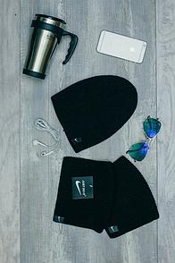 Шапка Nike темно-коричневая цвета