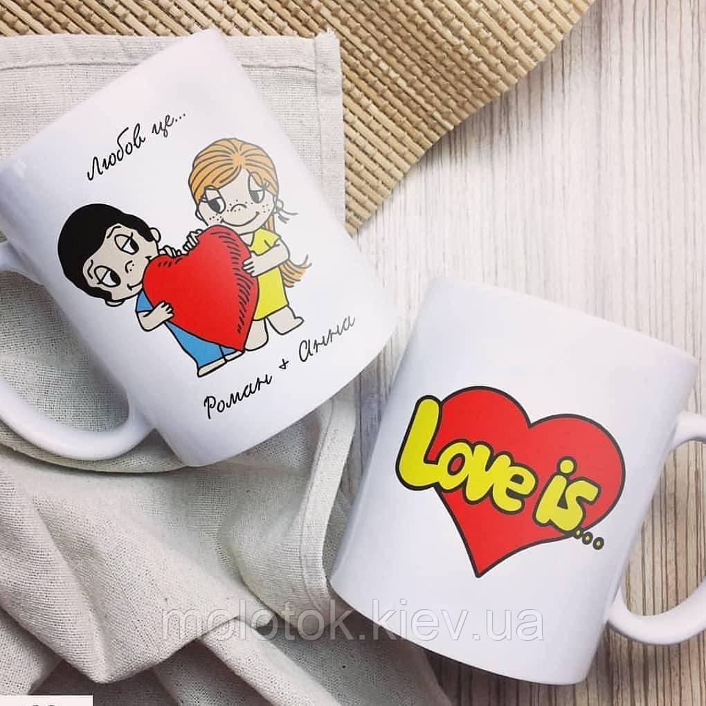 Чашка Love is...