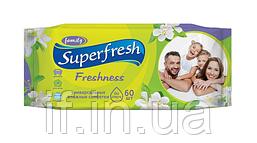 """Салфетка влажная """"Superfresh"""" 60шт. 15шт. / Ящ. (Ассортимент)"""