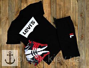 Комплект levi's+FILA (шорти+футболка)
