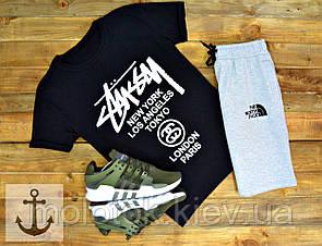 Комплект Stussy+The north face (шорты+футболка)