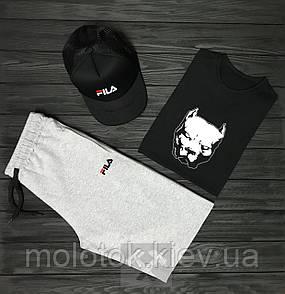 Комплект Pitbull+FILA (шорты+футболка+кепка)