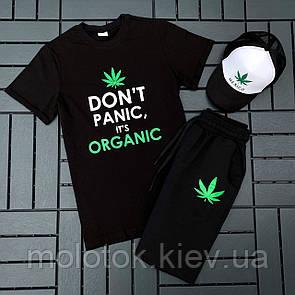 Комплект Don't panic it's organic (шорты+футболка+кепка)
