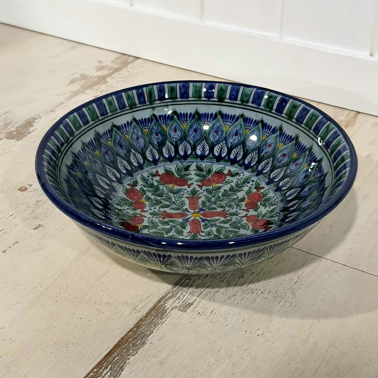 Глубокая тарелка ~450 мл. Ручная работа. Узбекистан (17_5)