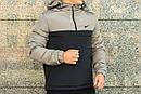 Анорак Intruder Nike, серо-чёрный, фото 3