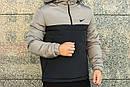 Анорак Intruder Nike, серо-чёрный, фото 4