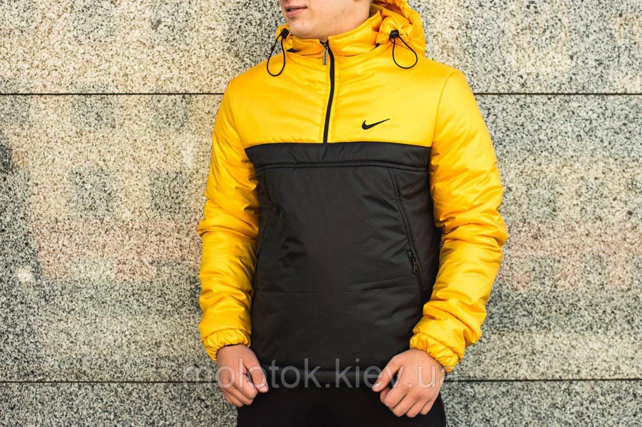 Анорак Intruder Nike, жёлто-чёрный