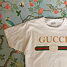 Футболка Gucci, напис золото, фото 2