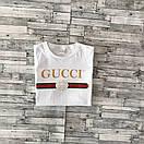 Футболка Gucci, напис золото, фото 3