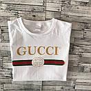 Футболка Gucci, напис золото, фото 4