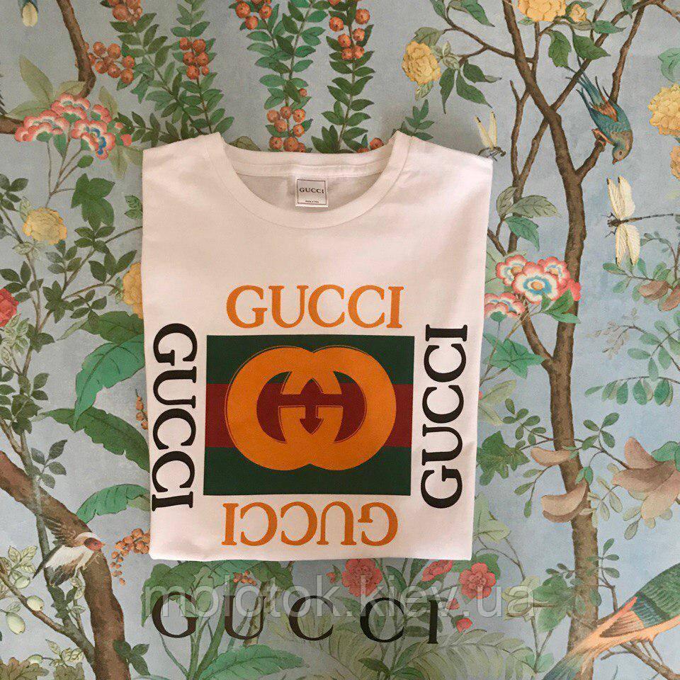 Футболка Gucci, велике лого