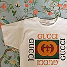 Футболка Gucci, велике лого, фото 3