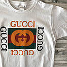 Футболка Gucci, велике лого, фото 4
