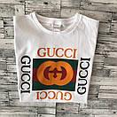 Футболка Gucci, велике лого, фото 5