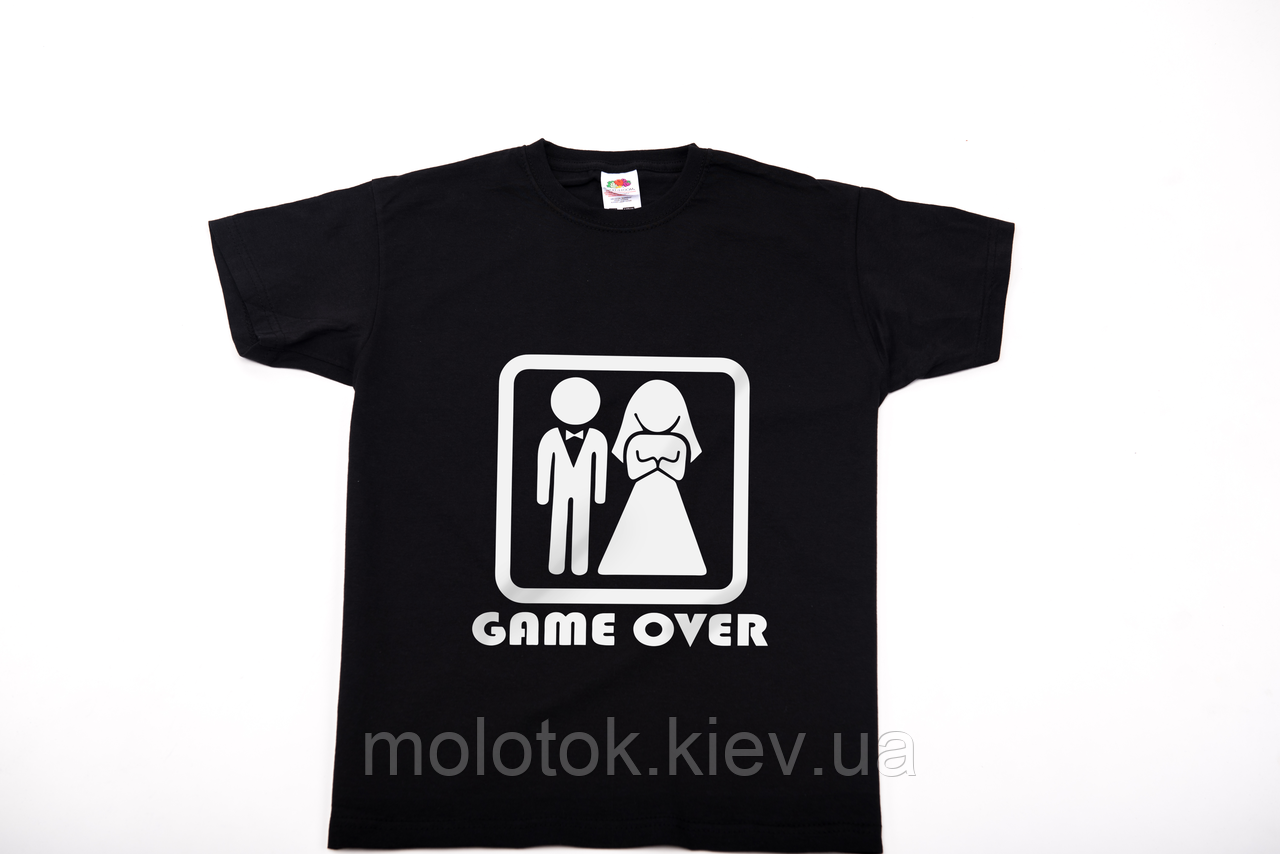 Футболка printOFF Game over черная  XL 001741