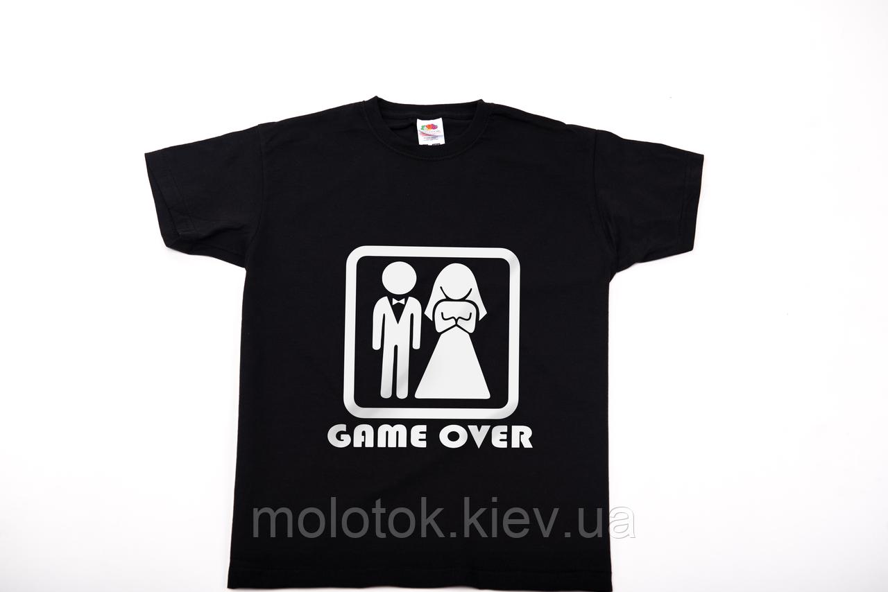 Футболка printOFF Game over чорна М 001741