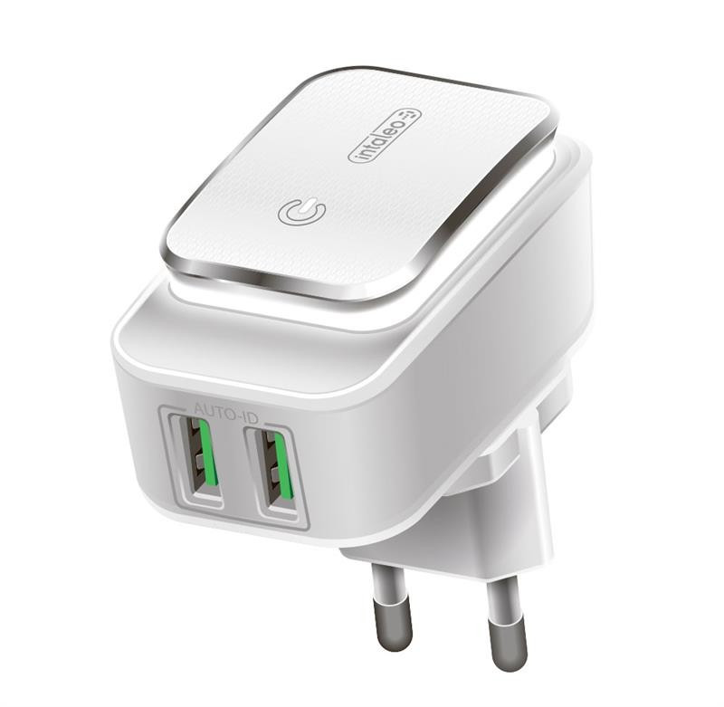 Мережевий зарядний пристрій Intaleo TCL242 (2USB, 2.4 A) White (1283126481130)