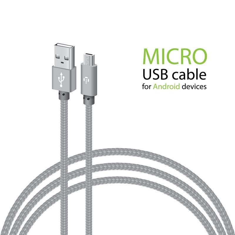 Кабель Intaleo CBGNYL1 USB-microUSB 1м Grey (1283126477676)