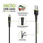 Кабель Intaleo CBFLEXM0 USB-microUSB 0.2м Black (1283126487422), фото 2