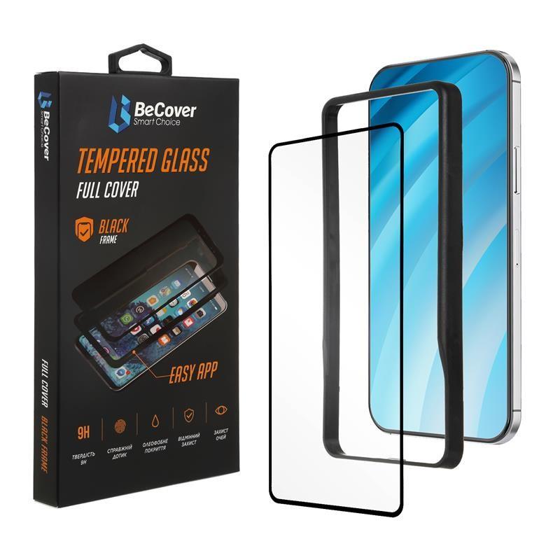 Защитное стекло BeCover Premium Easy Installation для Xiaomi Redmi Note 9/10X Black (705472)