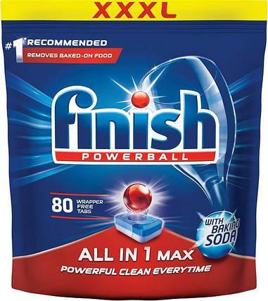 Миючий засіб для посудомийних машин Finish All in 1 Max 80 шт, фото 2