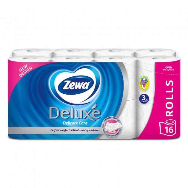 Туалетний папір Zewa Deluxe Delicate Care тришаровий  16 шт.