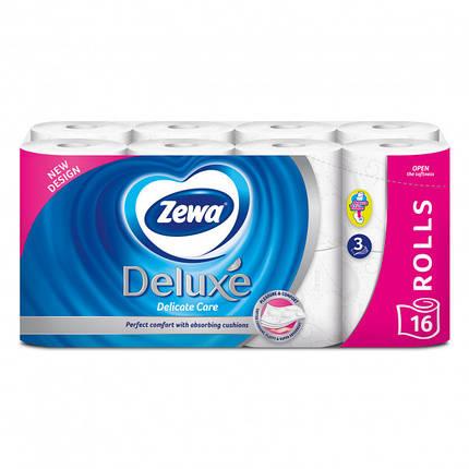 Туалетний папір Zewa Deluxe Delicate Care тришаровий  16 шт., фото 2