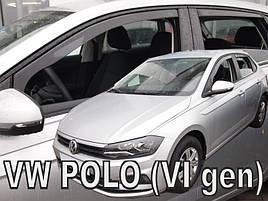 Дефлекторы окон (ветровики) VW Polo 6 2017 -> 5D (вставные, кт - 4 шт)