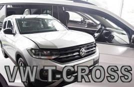 Дефлекторы окон (ветровики) VW T-Cross 2019-> 5D (вставные, кт - 4 шт)
