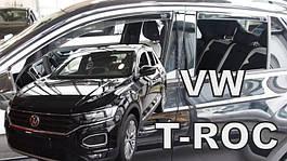 Дефлекторы окон (ветровики) VW T-Roc 2017-> 5D (вставные, кт - 4 шт)