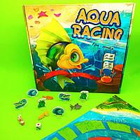 Настольная игра для семейного досуга развлекательная ходилка с кубиком и фишками Aqua racing Strateg
