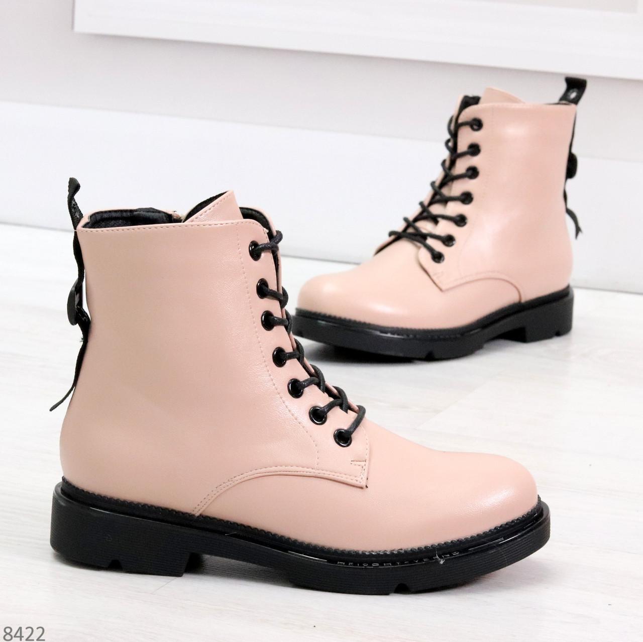Эффектные яркие демисезонные модные розовые женские ботинки
