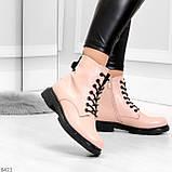 Эффектные яркие демисезонные модные розовые женские ботинки, фото 2