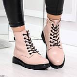 Эффектные яркие демисезонные модные розовые женские ботинки, фото 3