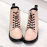 Эффектные яркие демисезонные модные розовые женские ботинки, фото 4