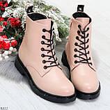 Эффектные яркие демисезонные модные розовые женские ботинки, фото 5