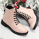 Эффектные яркие демисезонные модные розовые женские ботинки, фото 6
