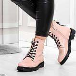 Эффектные яркие демисезонные модные розовые женские ботинки, фото 7