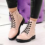 Эффектные яркие демисезонные модные розовые женские ботинки, фото 10