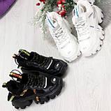 Дизайнерские ультра модные черные женские зимние кроссовки сникерсы, фото 3