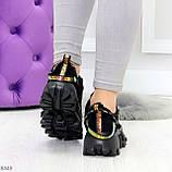 Дизайнерские ультра модные черные женские зимние кроссовки сникерсы, фото 8
